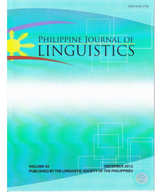 Philippine Journal of Linguistics - Delayed Publication