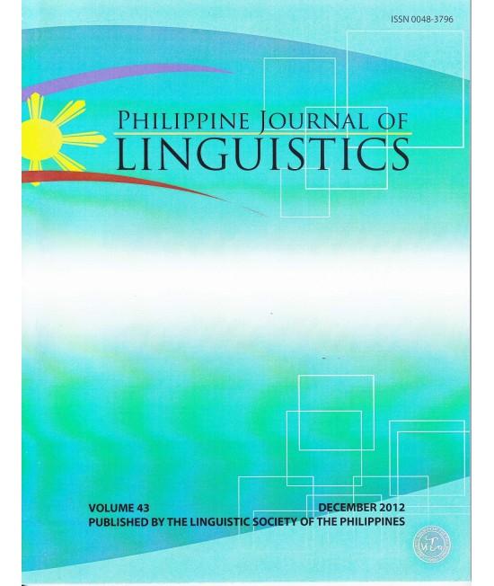 Philippine Journal of Linguistics - Delayed Publication