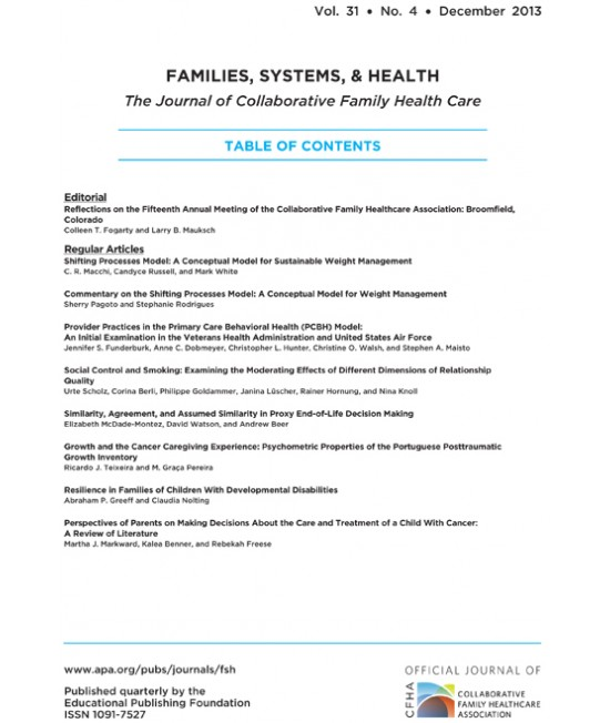 Families, Systems and Health
