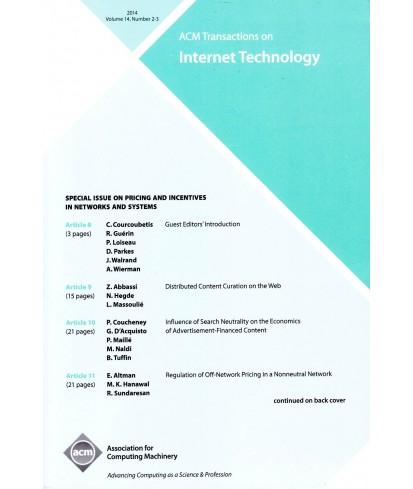 Transactions on Internet Technology