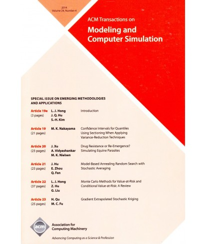 Transactions on Modeling and Computer Simulation