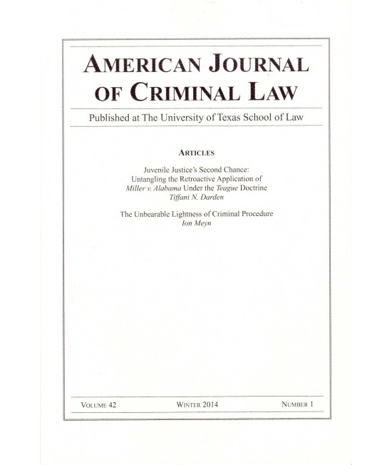 American Journal of Criminal Law