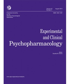 Experimental and Clinical Psychopharmacology