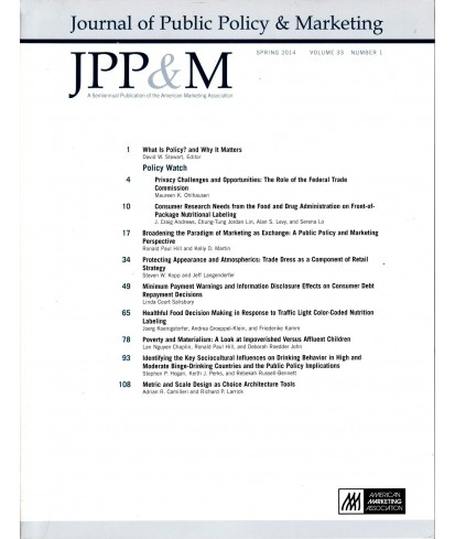 Journal of Public Policy and Marketing
