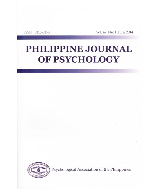 Philippine Journal of Psychology - Delayed Publication