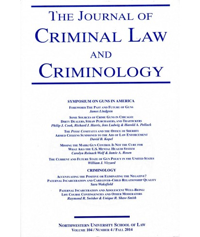 The Journal of Criminal Law and Criminology