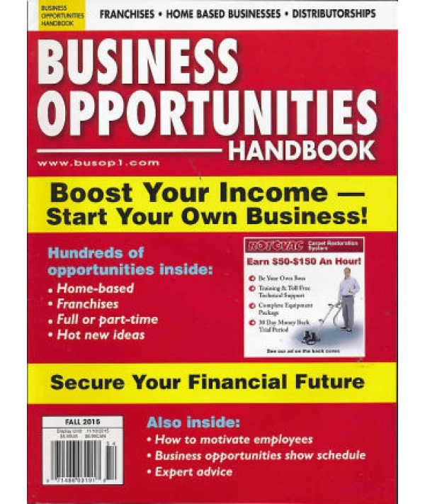 Business Opportunity Handbook - Philippine distributor of