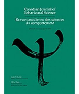 Canadian Journal of Behavioral Science