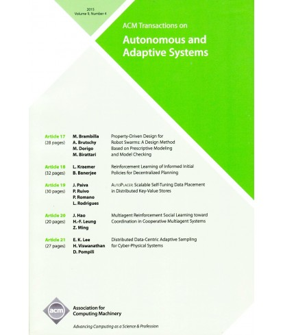 Transactions on Autonomous and Adaptive Systems