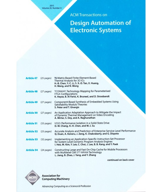 Transactions on Design Automation of Electronic Systems
