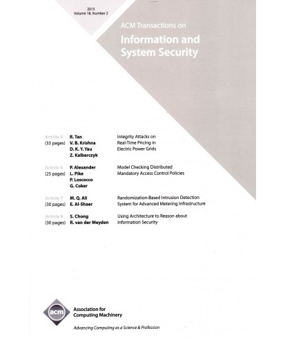 Transactions on Privacy and Security (formerly Transactions on Information and System Security)