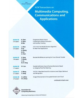 Transactions on Multimedia Computing Communications and Applications