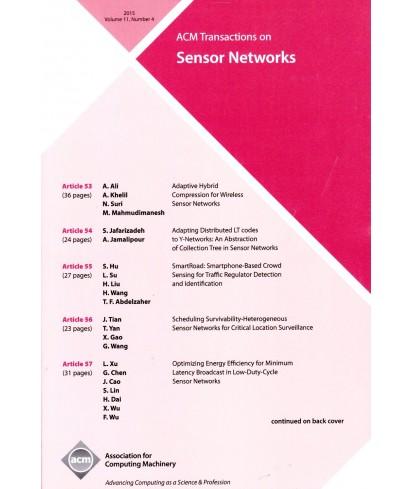 Transactions on Sensor Networks