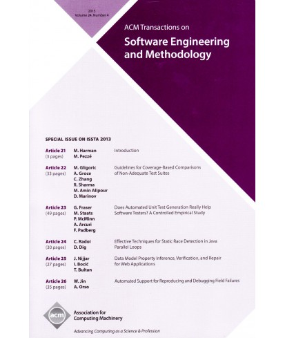 Transactions on Software Engineering and Methodology
