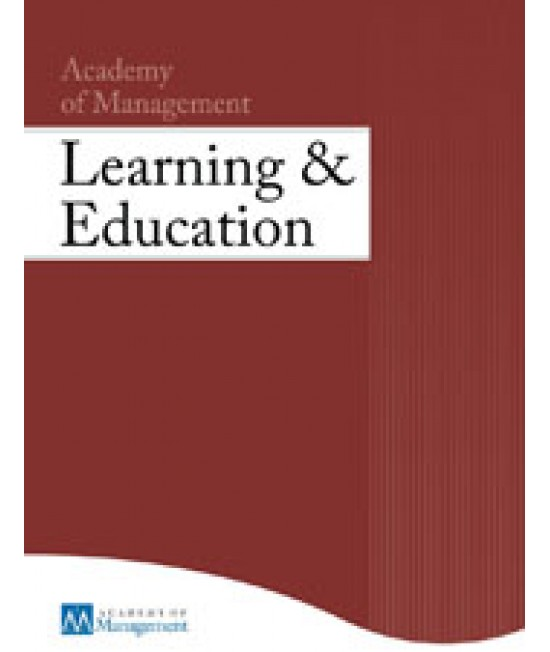 Academy of Management Learning and Education