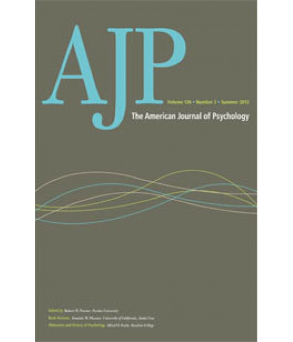american journal of psychology pdf