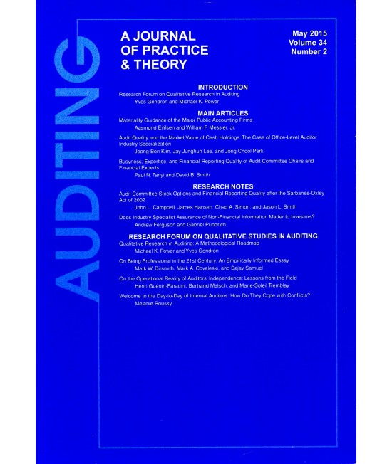 AUDITING: A Journal of Practice and Theory
