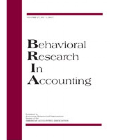 Behavioral Research in Accounting