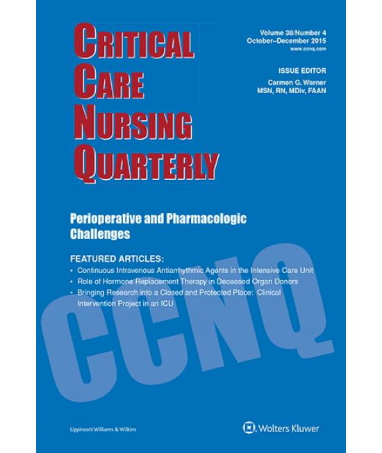 Critical Care Nursing Quarterly