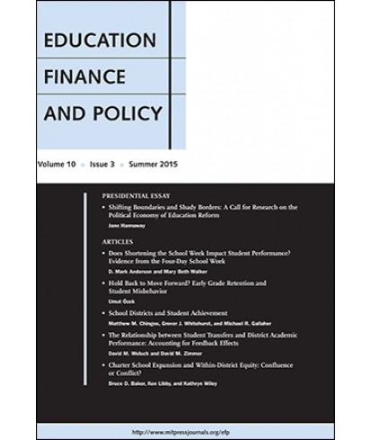 Education Finance and Policy