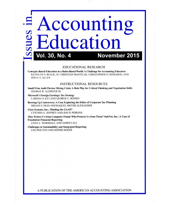 Issues in Accounting Education
