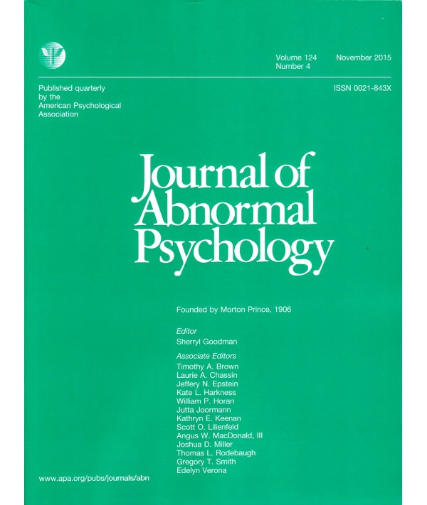 Картинки по запросу Journal Journal of Abnormal Psychology