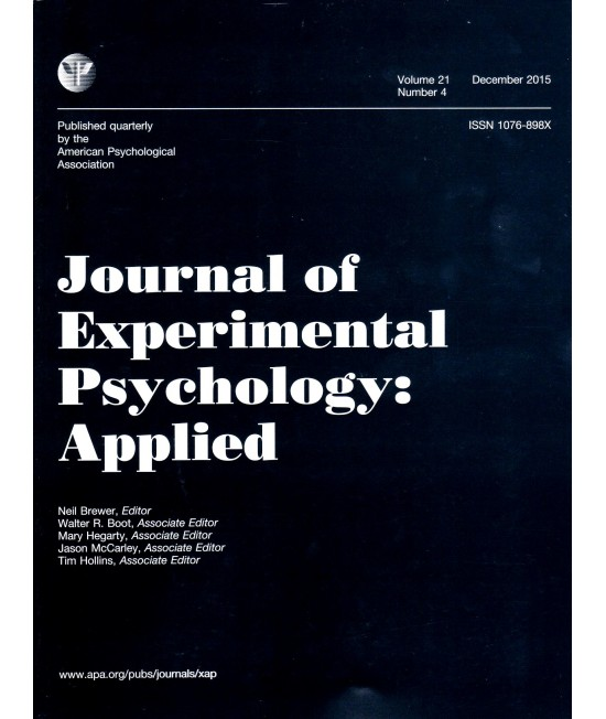 Journal of Experimental Psychology: Applied
