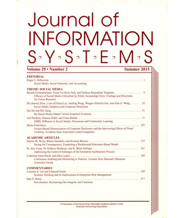 Journal of Information Systems - Philippine distributor of