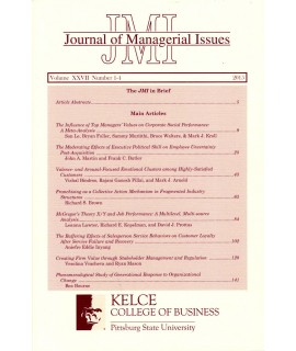Journal of Managerial Issues