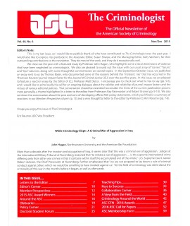 The Criminologist