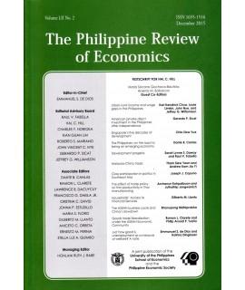 Philippine Review of Economics - Delayed Publication