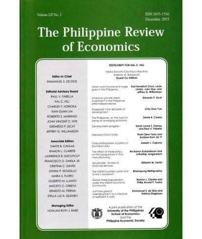 Philippine Review of Economics - Delayed Publication