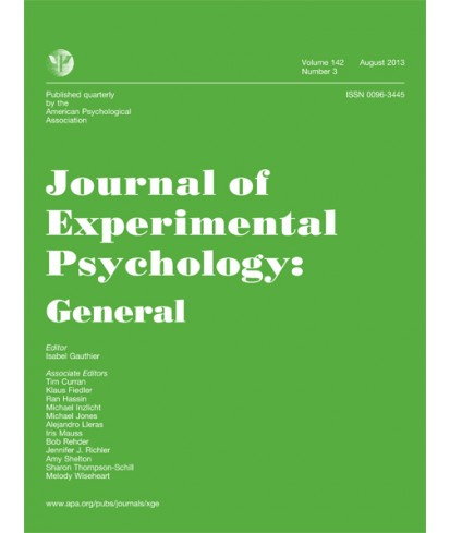 Journal of Experimental Psychology: General