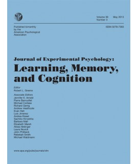 Journal of Experimental Psychology: Learning, Memory and Cognition
