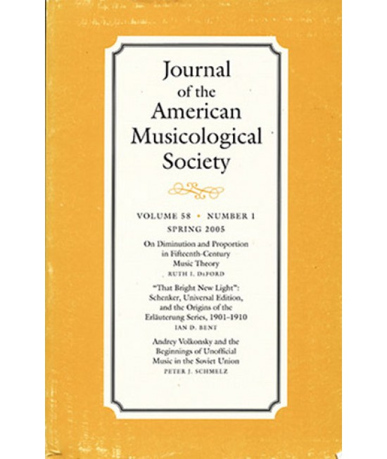 Journal of the American Musicological Society
