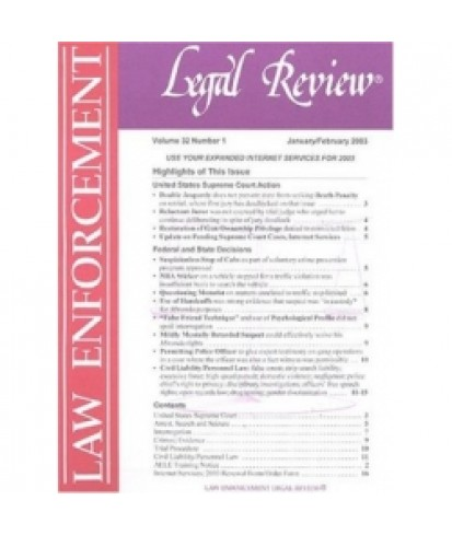 Law Enforcement Legal Review