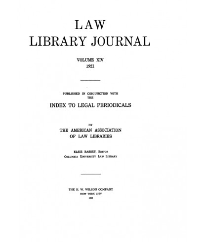 Law Library Journal