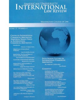 American University International Law Review