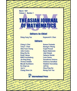 Asian Journal of Mathematics