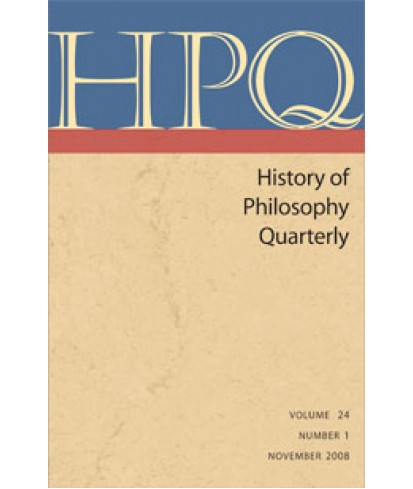 History of Philosophy Quarterly
