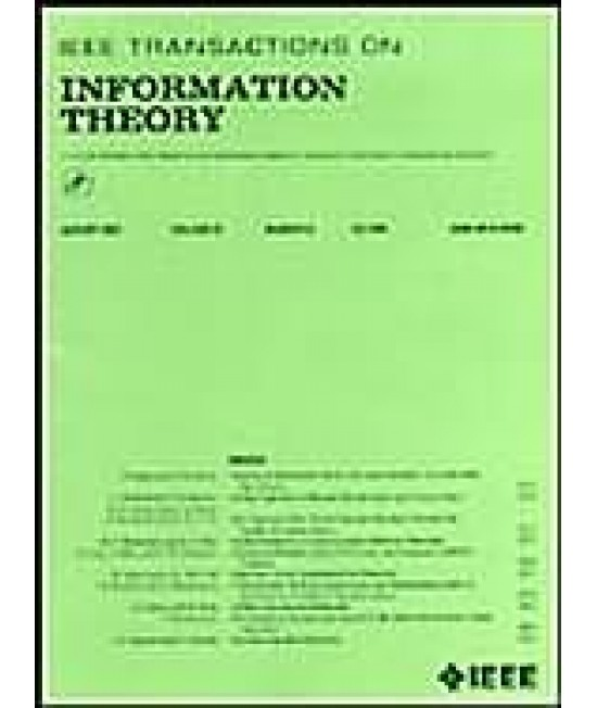 IEEE Transactions on Information Theory