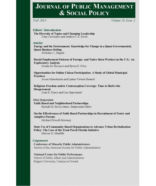 Journal of Public Management and Social Policy