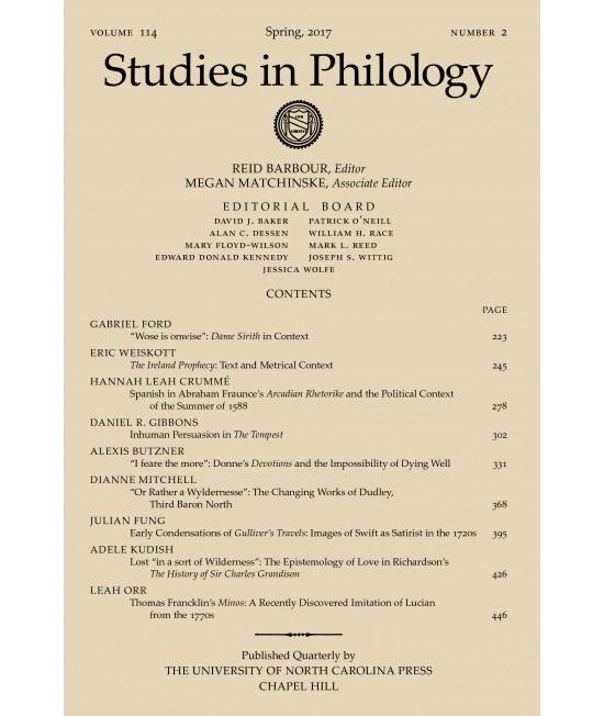 Studies in Philology