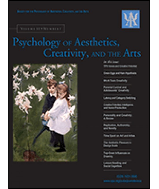 Psychology of Aesthetics, Creativity and the Arts