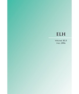 ELH - English Literary History