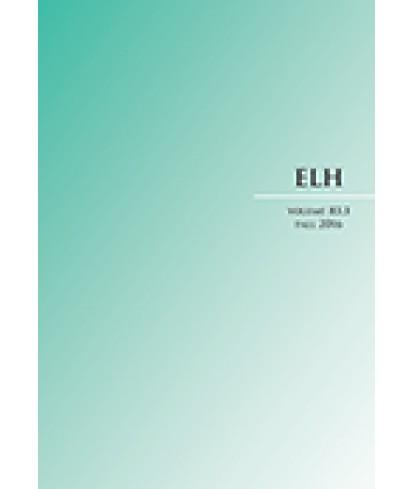 ELH - English Literary History