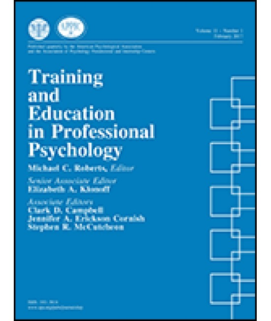 Training and Education in Professional Psychology
