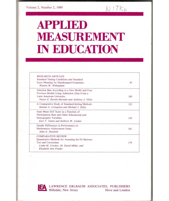 Applied Measurement in Education