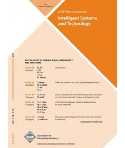 Transaction on Intelligent Systems and Technology
