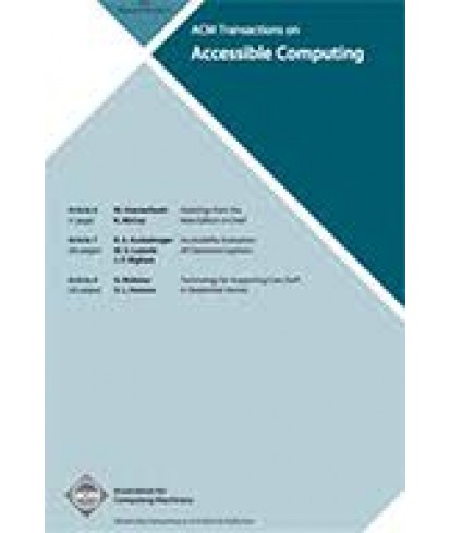 Transactions on Accessible Computing